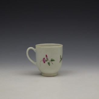 Worcester Floral Pattern Coffee Cup and Saucer c1770-80 Ex Jean Lucas Collection (6)
