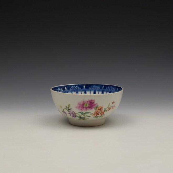 Worcester Floral Pattern Sugar Bowl c1770 (1)
