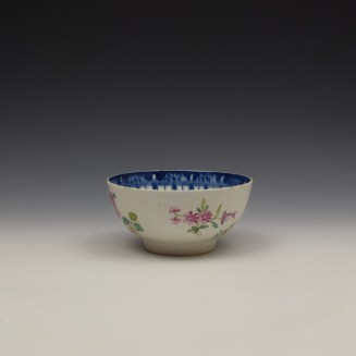 Worcester Floral Pattern Sugar Bowl c1770 (3)