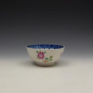 Worcester Floral Pattern Sugar Bowl c1770 (4)