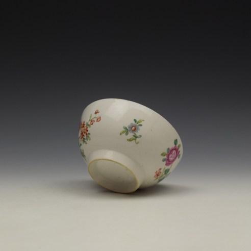 Worcester Floral Pattern Sugar Bowl c1770 (8)