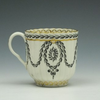 Worcester Neo Classical Pattern Coffee Cup and Saucer c1775-85 (4)