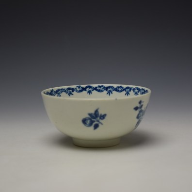 Worcester Fruit and Wreath Pattern Sugar Bowl c1775-80 (2)