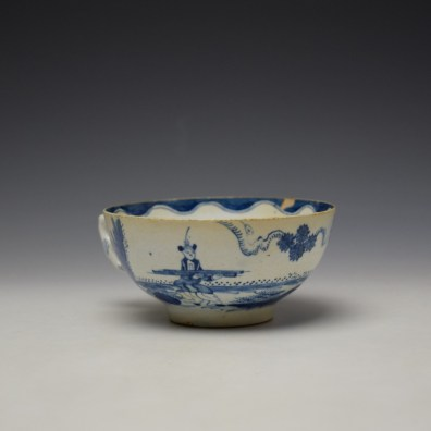 Bow Golfer and Caddy Pattern Breackfast Sized Teacup c1758-62 (4)