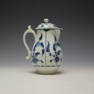 Worcester Immortelle Pattern Sparrow Beak Jug and Cover c1770-90 (3)