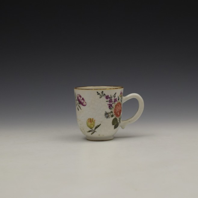 James Giles Decorated Floral Pattern Chinese Coffee Cup C1760 (1)