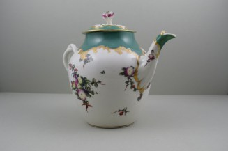 Worcester Porcelain James Giles Spotted Fruit Pattern Teapot, Cover and Stand, C1770 (5)