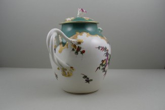 Worcester Porcelain James Giles Spotted Fruit Pattern Teapot, Cover and Stand, C1770 (7)