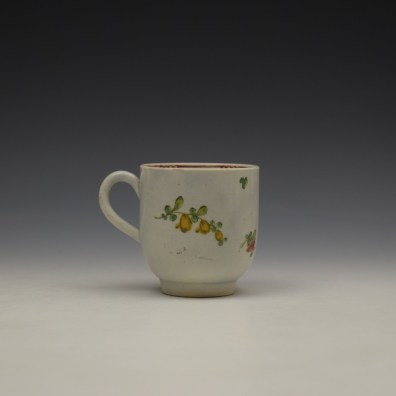 Liverpool John Pennington Floral Pattern Coffee Cup c1770 (3)