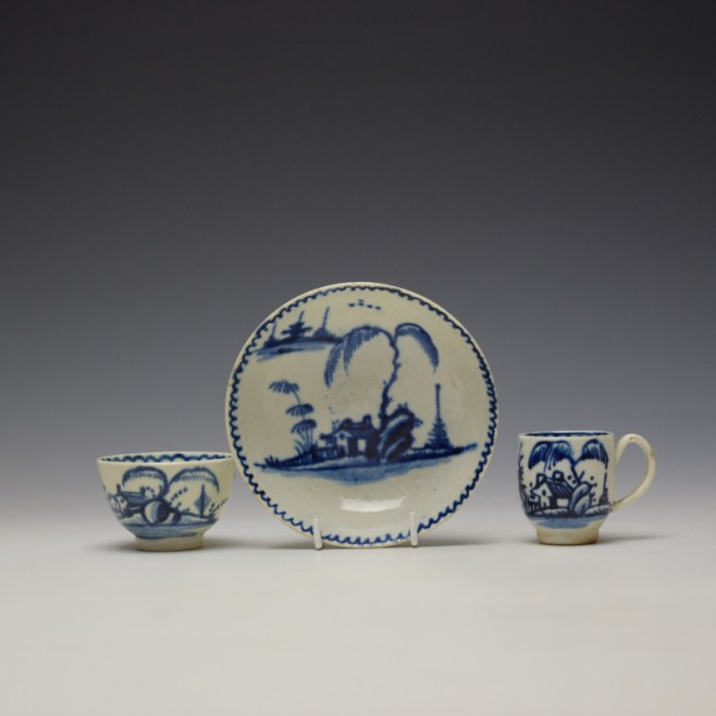 John Pennington House Fence and Willow Pattern Toy Trio c1775-85 (1)