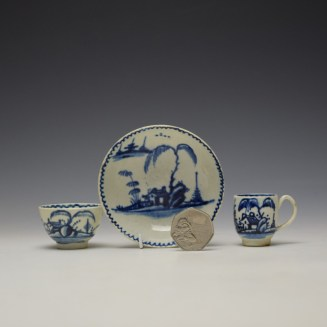 John Pennington House Fence and Willow Pattern Toy Trio c1775-85 (2)