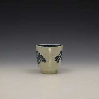 Liverpool John Pennington Peony and Daisy Sprays Pattern Coffee Cup c1780-90 (5)