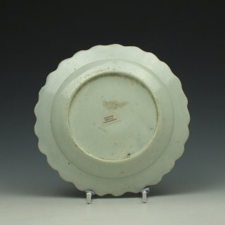 Liverpool John Pennington Profile Bud Pattern Scalloped Edged Small Plate c1775-80 (1a) (3)