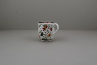 Worcester Porcelain Kempthorne Pattern Coffee Cup and Saucer, C1768-75 (7)