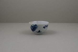 Worcester Porcelain Lanslip Pattern Teabowl and Saucer, C1755-60 (7)