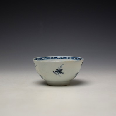 Liverpool Philip Christian Bird in Branches Pattern Teabowl and Saucer c1766-70 (4)