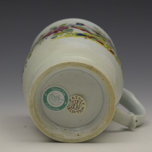 Longton Hall Fancy Bird and Rock Pattern Bell Shaped Mug c1755 Ex Watney Collection (11)