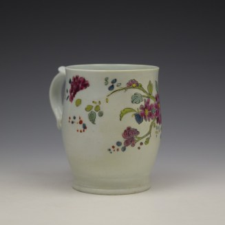 Longton Hall Fancy Bird and Rock Pattern Bell Shaped Mug c1755 Ex Watney Collection (4)