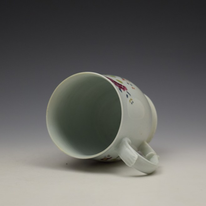 Longton Hall Fancy Bird and Rock Pattern Bell Shaped Mug c1755 Ex Watney Collection (9)