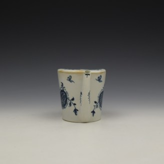 Lowestoft Sunflower Pattern Feeding Cup c1765-70 (3)