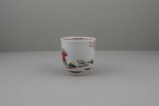 Worcester Porcelain Mandarin Chasing Ducks Pattern Coffee cup, C1770-80 (3)