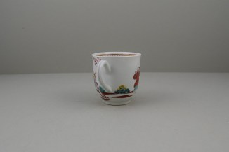 Worcester Porcelain Mandarin Chasing Ducks Pattern Coffee cup, C1770-80 (5)
