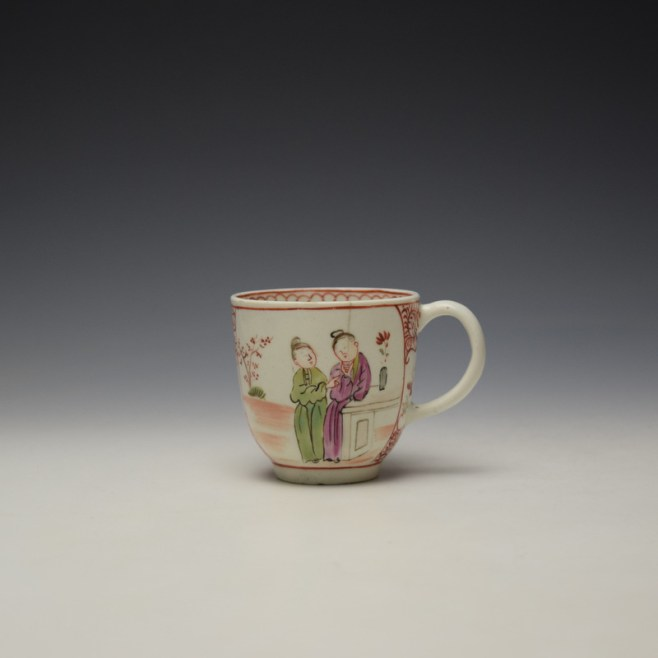 Lowestoft Mandarin Conversation Pattern Coffee Cup c1785-90 (1)