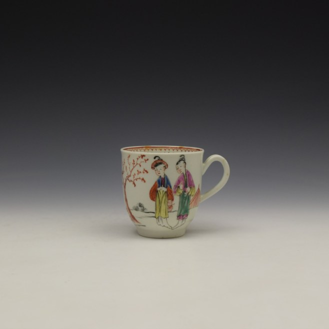 Worcester Mandarin Lady and Creel Pattern Coffee Cup c1780 (1)