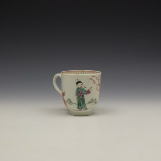 Worcester Mandarin Lady and Creel Pattern Coffee Cup c1780 (3)
