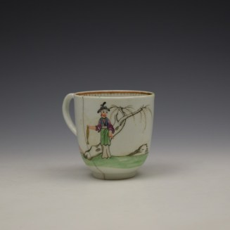 Worcester Mandarin Pattern Replacement Coffee Cup c1768-70 (3)