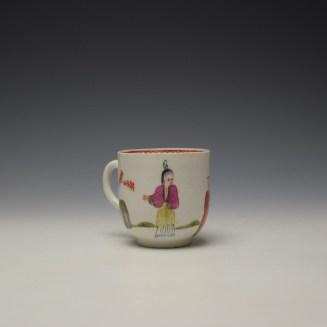 Bow Mandarin Pattern Coffee Cup c1765-70 (3)