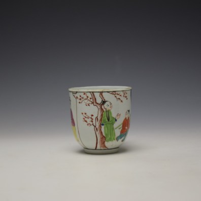 Worcester Mandarin Mother and Child Under a Tree Pattern Coffee Cup c1770-80 (2)