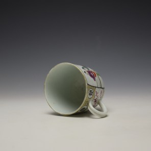 Worcester Mandarin Mother and Child Under a Tree Pattern Coffee Cup c1770-80 (6)