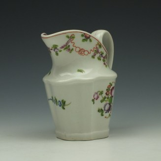New Hall Pattern 195 Cream Jug c1790-1800 (2)