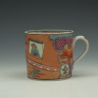 New Hall Pattern 425 Coffee Can and Saucer c1800-15 (2)