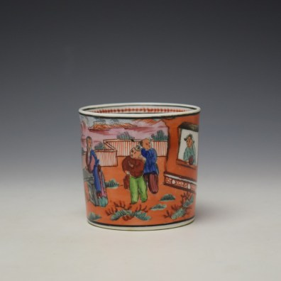 New Hall Boy in the Window Pattern Coffee Can c1800-10 (2)