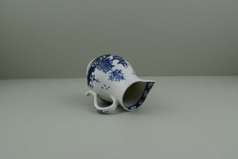 Lowestoft Porcelain Pagoda, Fence and Landscape Pattern Sparrow Beak Jug, C1775-90 (8)