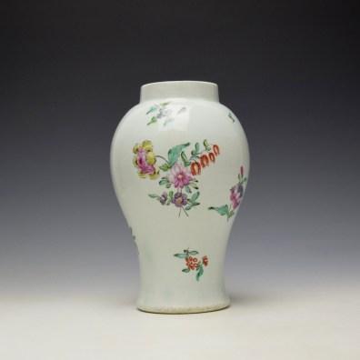 Liverpool Philip Christian Floral Pattern Vase c1765-70 (3)