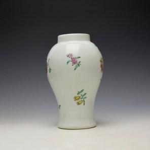 Liverpool Philip Christian Floral Pattern Vase c1765-70 (4)