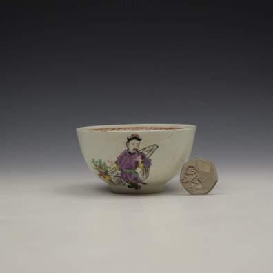 Liverpool Philip Christian Mandarin Conjurer Pattern Sugar Bowl, C1768-72 (2)