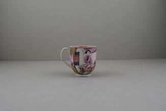 Liverpool Porcelain Philip Christian Mandarin Ocean View Pattern Coffee cup, C1760 (4)