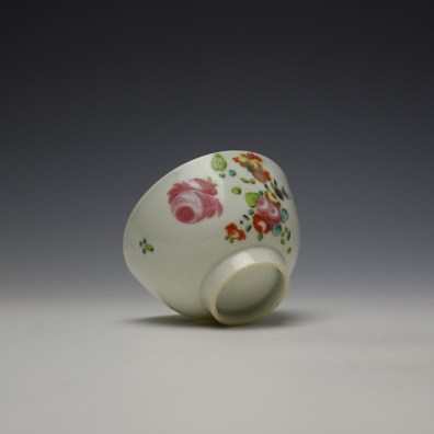 Liverpool Philip Christian Rose and Floral Sprays Pattern Teabowl and saucer c1770-75 (7)