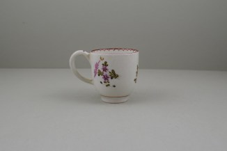Lowestoft Porcelain Pink and Purple Flowers Tulip Painter Coffee Cup, C1770-75 (4)