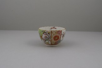 Worcester Porcelain Polychrome Dragon PatternTeabowl, Rare, C1780-90 (3)