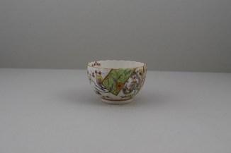 Worcester Porcelain Polychrome Dragon PatternTeabowl, Rare, C1780-90 (4)