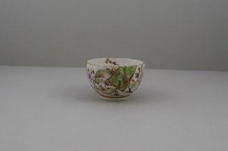 Worcester Porcelain Polychrome Dragon PatternTeabowl, Rare, C1780-90 (7)