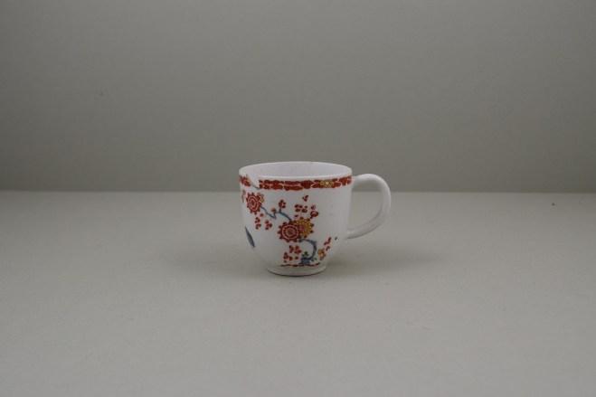 Bow Porcelain Quail Pattern Coffee Cup C1760 (1)