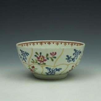 Worcester Queens Floral Pattern Sugar Bowl c1770 (6)