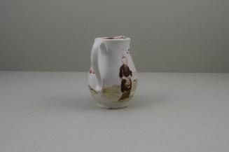 Lowestoft Porcelain Rare Bull Pattern Sparrow Beak Jug, C1772 (5)