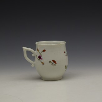 Derby Bird Peony and Rock Pattern Coffee Cup c1757-60 (4)